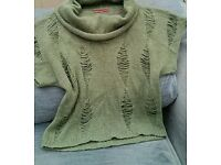 Next Med green wool mix top