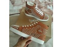 Christian Louboutin Noisette Spike Sneakers