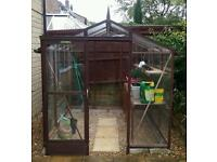 Alton Quality Cedar Greenhouse 6ftx8ft Glass