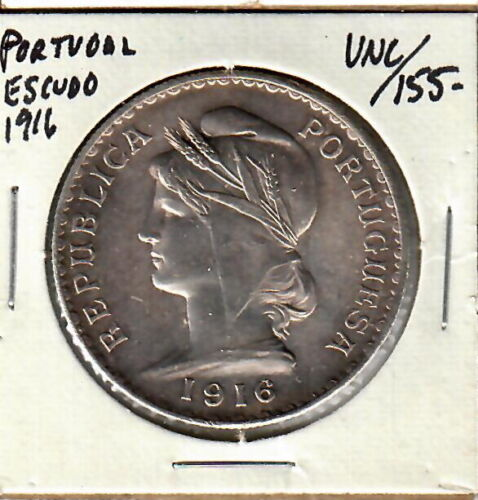 Portugal Escudo 1916 Toned Uncirculated