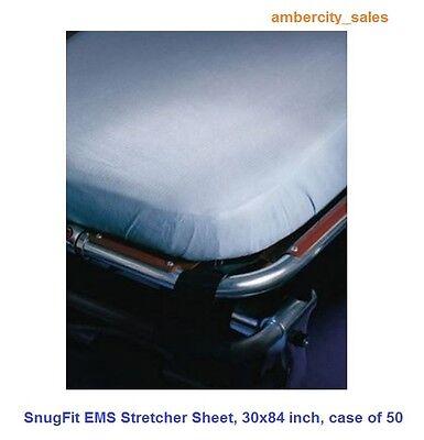 SnugFit EMS Stretcher Sheets, Size: 30 x 84 inch, Case of 50