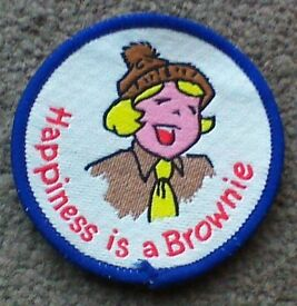 vintage Brownie and Girl Guide fabric patches