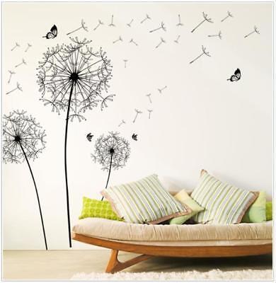 Diy Home Decor New Design Large Schwarz Dandelion Wall Sticker Art Decals PVC DE - Schwarz Home Decor