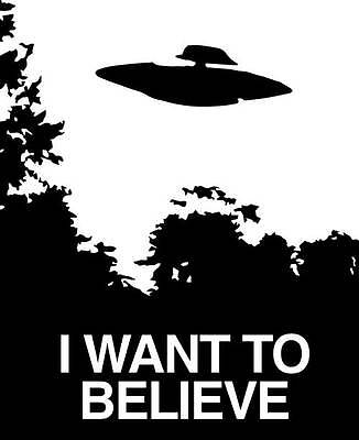 I Want To Believe Vinyl Decal Sticker X Files Sci Fi Scully