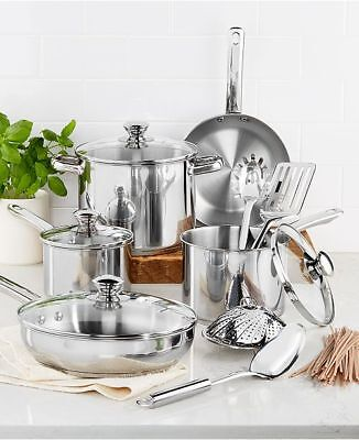 Tools of The Trade Stainless Steel 13-Piece Cookware Set New In Box Fast