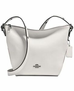 COACH COACH Crossbody Dufflette Dark Antique White