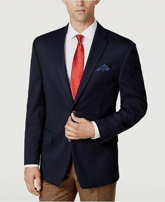 $551 Michael Kors 42R Men's Blue Classic Fit Stretch Sport Coat Jacket (Michael Kors Classic)