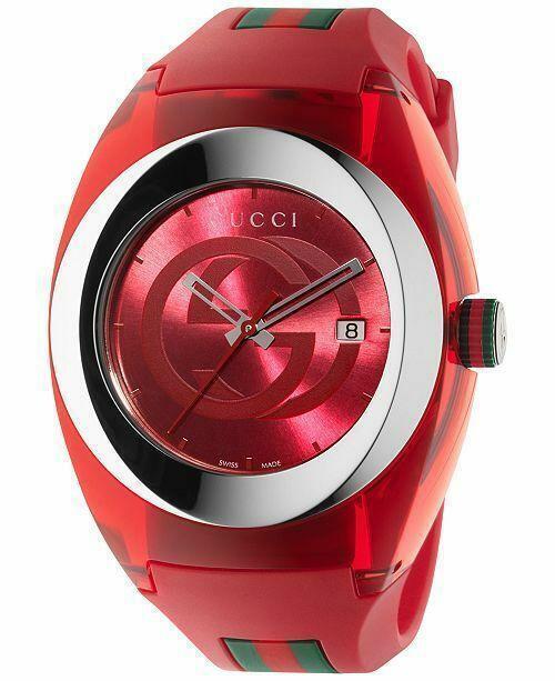 Gucci YA137103 Sync XXL Watch Red Retail ($495)