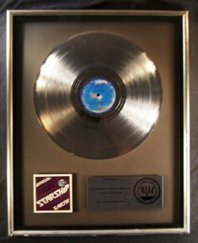 Jefferson Starship Earth LP Platinum RIAA Record Award Grunt Records