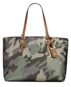 Tommy Hilfiger Julia Camo Extra-Large Tote Olive Gold $99 OBO