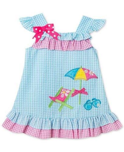 RARE EDITIONS® Little Girls' 6 Beach Chair Gingham Seersuck