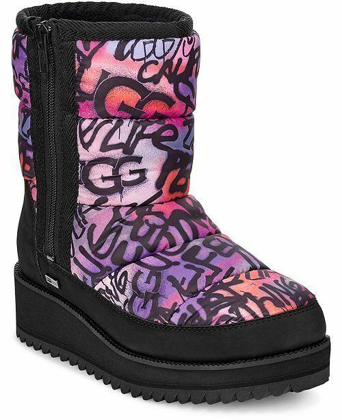 ridge graffiti pop puffer waterproof ski boots