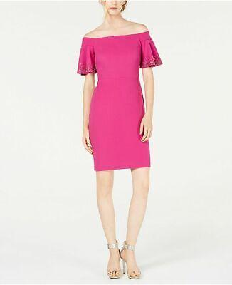 Calvin Klein Women's Embellished Off-The-Shoulder Sheath Dress Size 10 $169.00