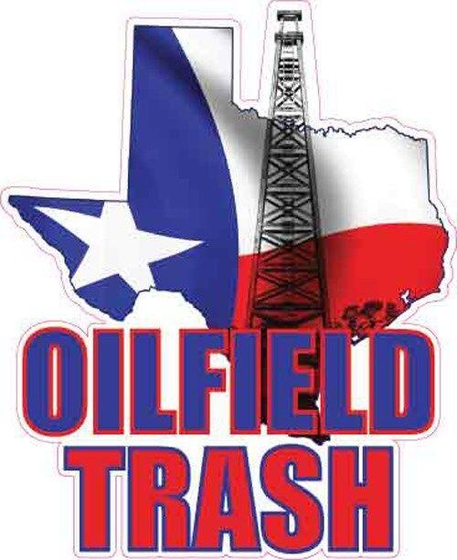 texas oilfield trash vinyl decal sticker