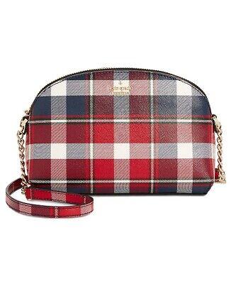 Kate Spade New York Cameron Street Crossbody Plaid Check Chain Bag RRP £143