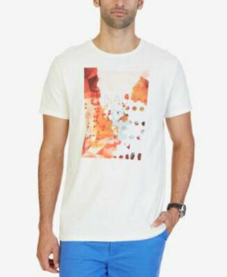 Nautica Men's Graphic-print T-shirt, Tan~XL~NWT~ORG. $34 Extra Large Big SALE!!!