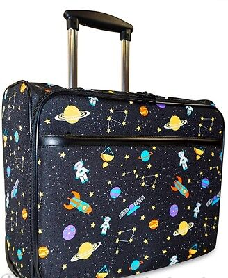 NEW GALAXY ROLLING COMPUTER BAG CASE NOTEBOOK SLEEVE 17 INCH LUGGAGE TOTE LAPTOP
