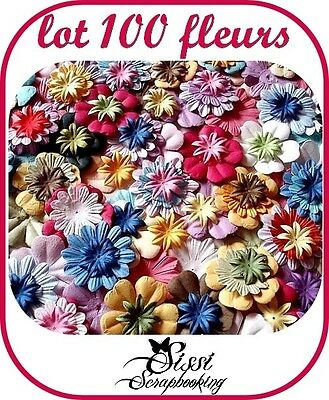 Mega Lote 100 Flores Multicolor 3 Tamaños Scrapbooking