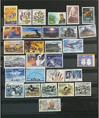 ICELAND - SMALL COLLE TION OF USED STAMPS