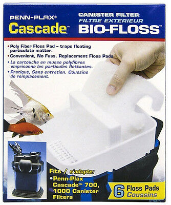 Cascade 500 Canister Filter - CASCADE 500 AQUARIUM CANISTER FILTER FLOSS. 6 PACK