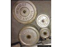 Many iron weights for sale, Hayes £20