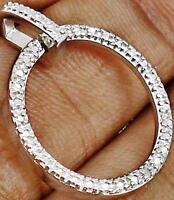 WHITE DIAMONDS IN HALLMARKED 925 SILVER CIRCLE ETERNITY PENDANT