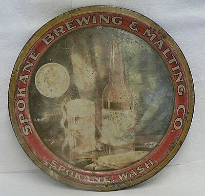 PRE PROHIBITION SPOKANE BREWING & MALTING CO. TIN BEER TRAY