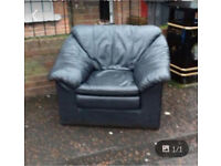 Armchair in blue leather £29