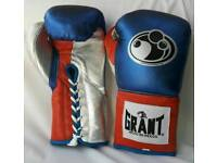 new customized grant leather boxing gloves abailable in all oz