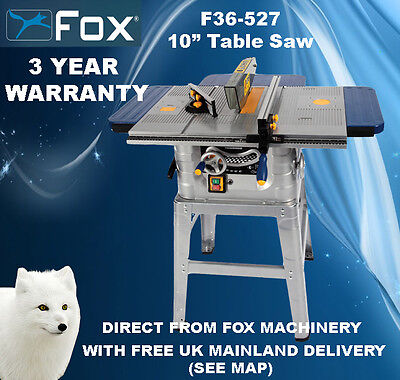 """Woodworking Fox F36-527 10"""" (250mm) Table Saw"""