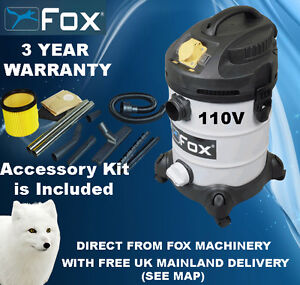 Woodworking Woodturning Fox F50-800 Dust Extractor 110V Vacuum Hoover ...