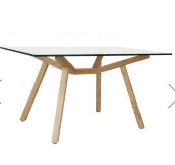 MATT BLATT: Sean Dix Forte Glass Dining Table - Small