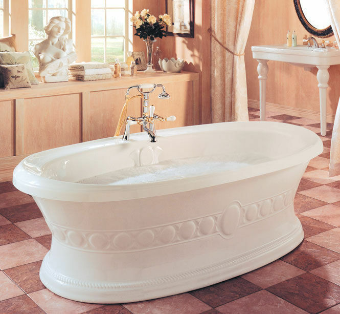 NEPTUNE ULYSSE CLASSIC 72x38 FREESTANDING BATH TUB WITH MASS-AIR SYSTEM