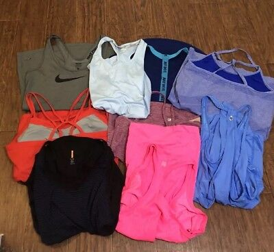 LOT 9 Womens Large Bundle Athletic Workout Tank Tops Large Nike Fabletics Zella