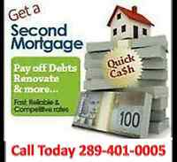 Second Mortgages - Low Rates - Call 289-401-0005