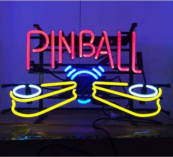 "Pinball Machine Game Room Neon Sign 20""x16"" Light Lamp Beer Bar Pub Decor Glass"