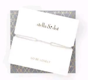 Stella & Dot Pave Wishing Bracelet - Silver