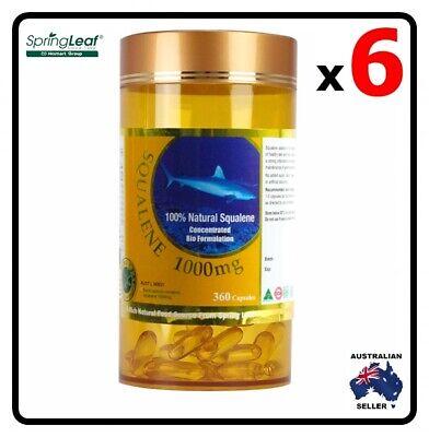6x Homart Springleaf Squalene 1000mg 360 capsules