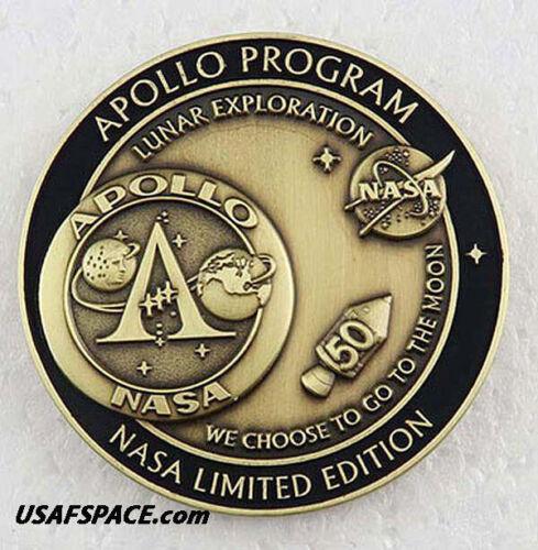 APOLLO PROGRAM - 50th Anniversary - LUNAR FLOWN METAL - NASA MEDALLION - COA