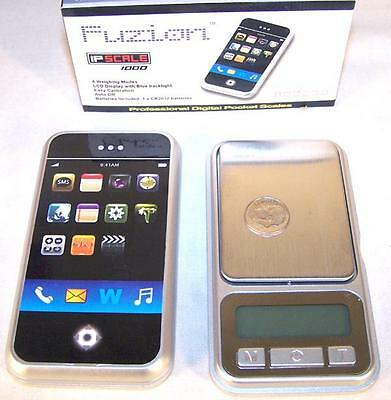 I PHONE SCALE 1000 X 0.1 weight gram digital pocket small pounds ounces new