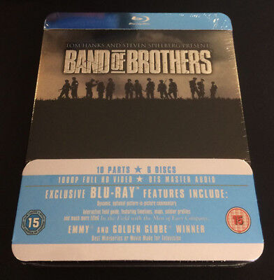 Band Of Brothers  Blu Ray  Metal Tin Case Collectors Box Set Hbo Complete Series