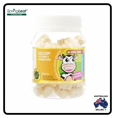 Homart Springleaf Super Kids Gummy Calcium Vitamin D Magnesium 200 tablets