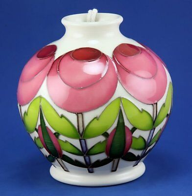 - MOORCROFT THE RHS ROSE SPHERE VASE, SHAPE 41/4, EMMA BOSSONS,1ST QUALITY RRP£290