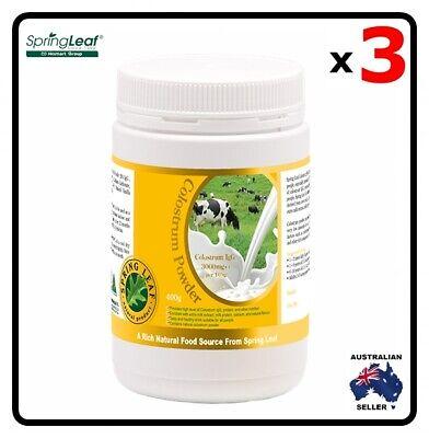 3x Homart Springleaf ColostrumPowder 3%IgG 400g
