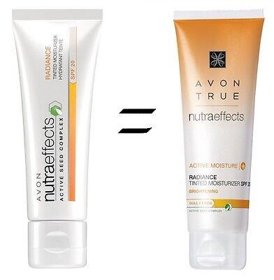 Avon (True) Nutra Effects Radiance getönte Tagescreme LSF20 50ml alle Hauttypen