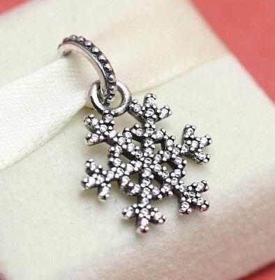 * New! Pandora Sterling Silver Winter Kiss Snowflake 390354CZ Christmas Charm