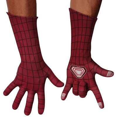 Spider-Man Gloves Dark Red Men's Long Length Poly Screen Print Costume Gloves
