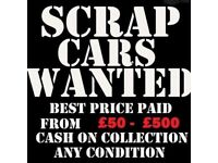 SCRAP YOUR CAR FOR CASH WITHIN 1HOUR