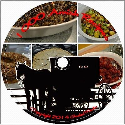 1000 Amish Recipes Cooking and Baking Library on CD DVD