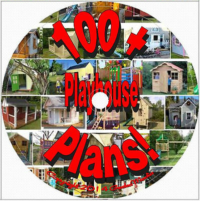 100+ Playhouse Plans Biggest Collection on eBay Plus Outdoor Furniture Plans cd